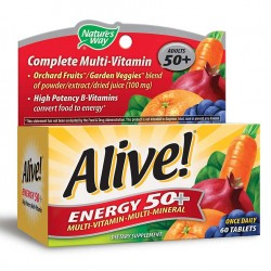 Natures Way Alive Energy 50+ Multi-Vitamin 60 Tablets